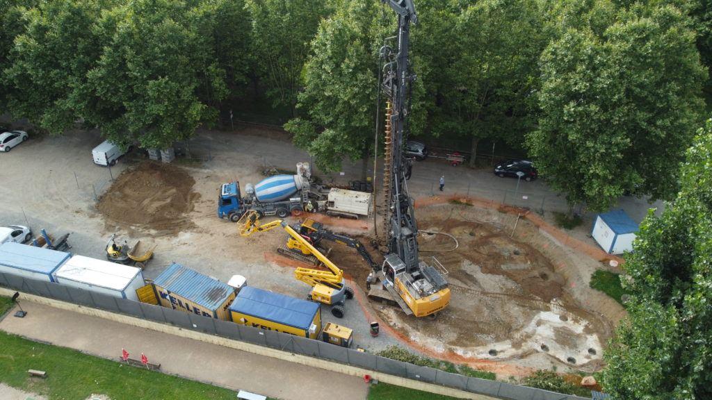 Réalisation d'un bassin de stockage-restitution à Montmerle-sur-Saône